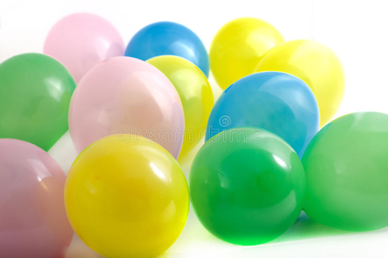 Festive colourful party balloons stock images