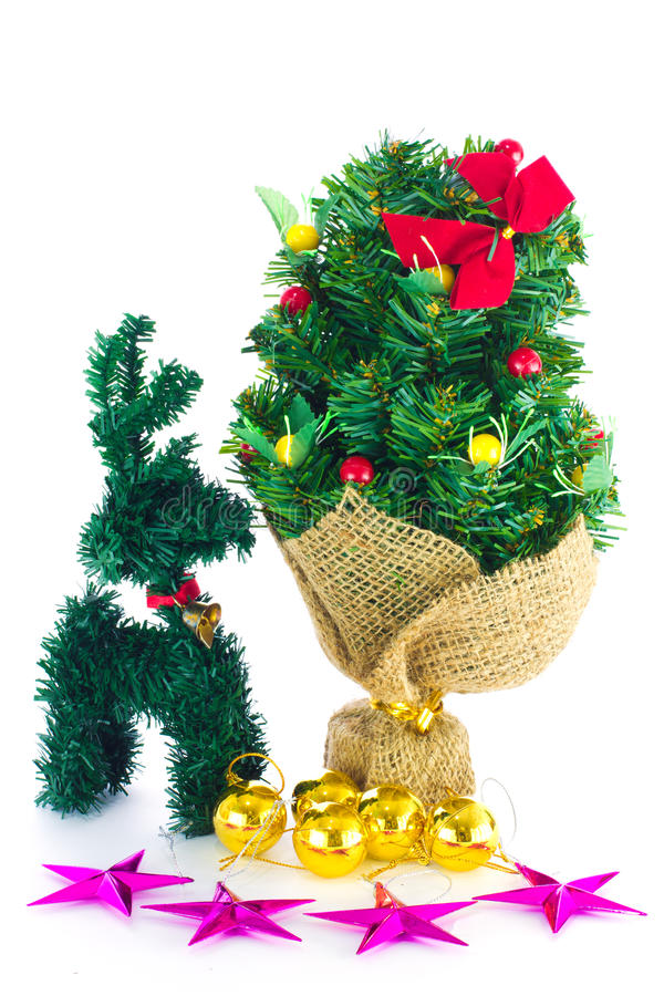 Download Festive Decorated Christmas Pine Tree Stock Image - Image: 27887613