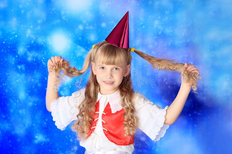Download Festive dirl stock photo. Image of smile, christmas, hairstyle - 11759532