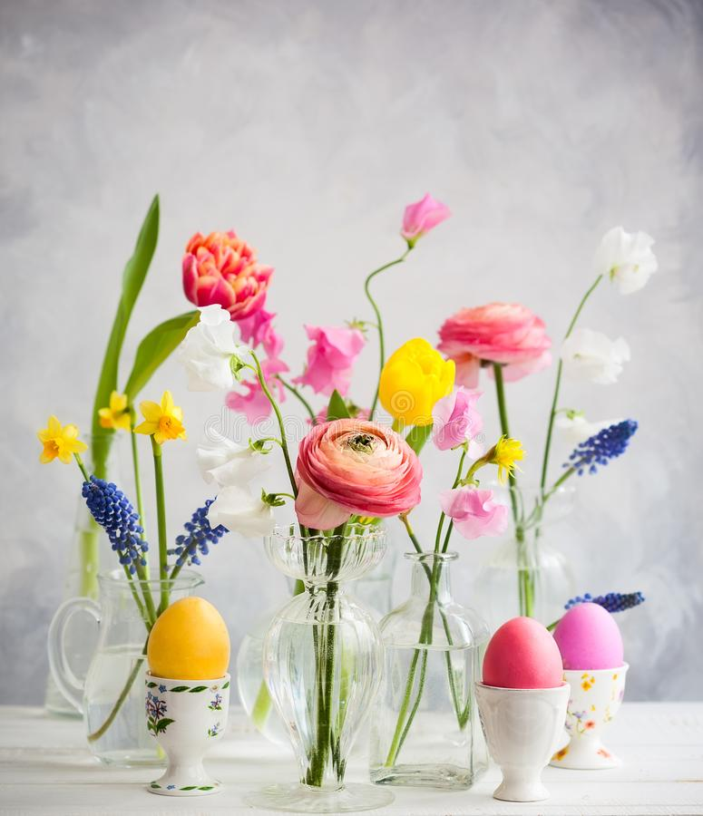 Free Festive Easter Table Stock Image - 108619261