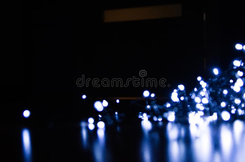 Christmas background. Festive elegant abstract background with bokeh lights and stars royalty free stock photos