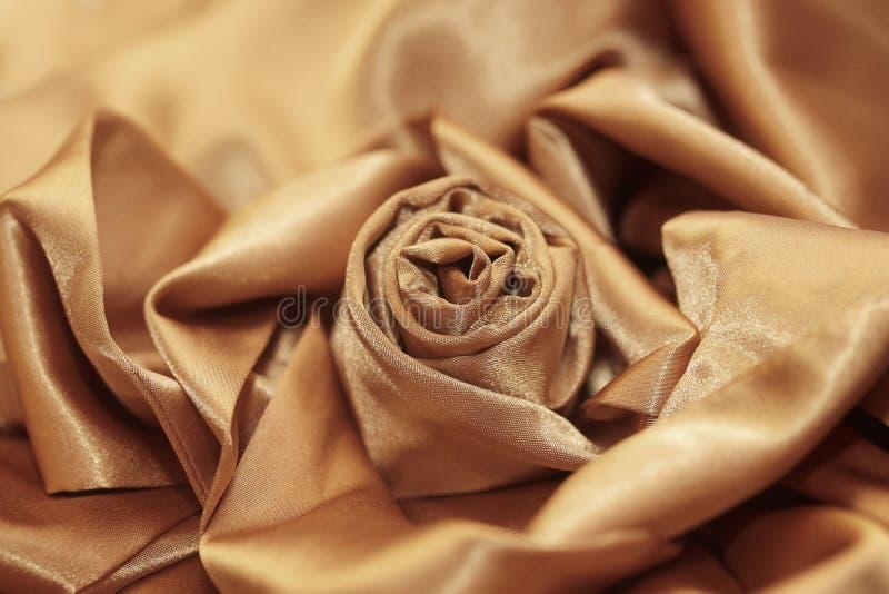 Festive elegant rose silk Golden stock photo