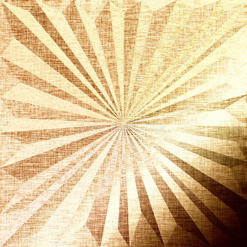Festive fabric golden background with triangles stock photo