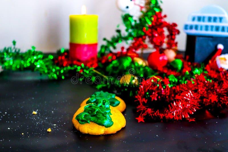 Festive Feel Biscuits arkivbilder