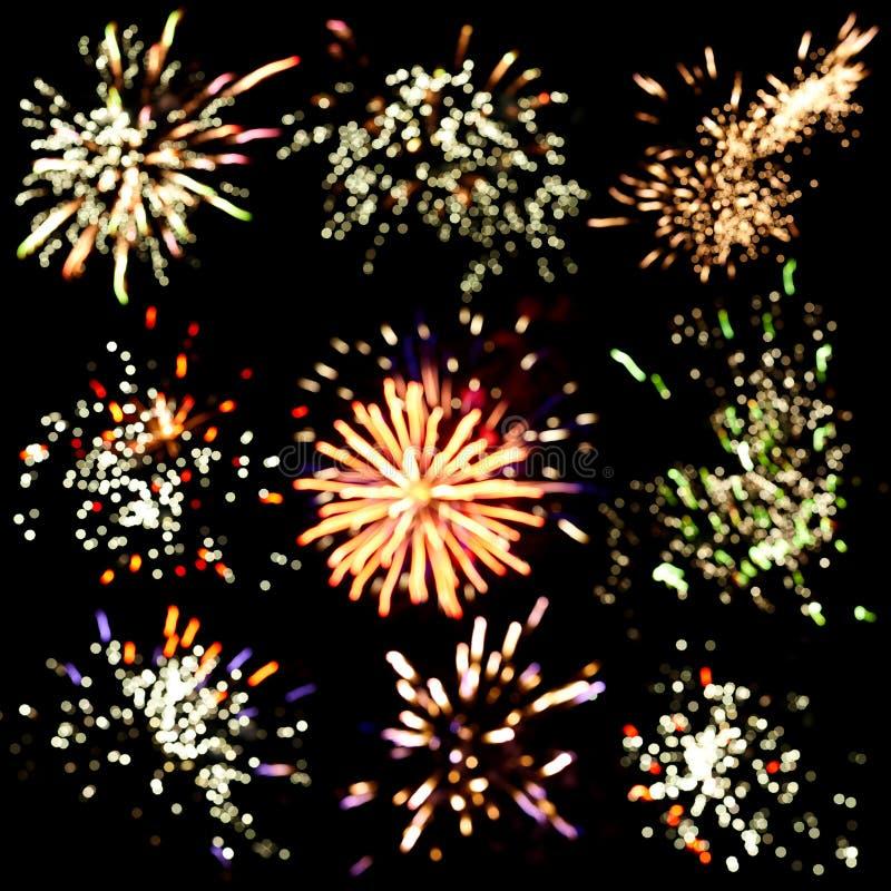 Festive fireworks background royalty free stock photos
