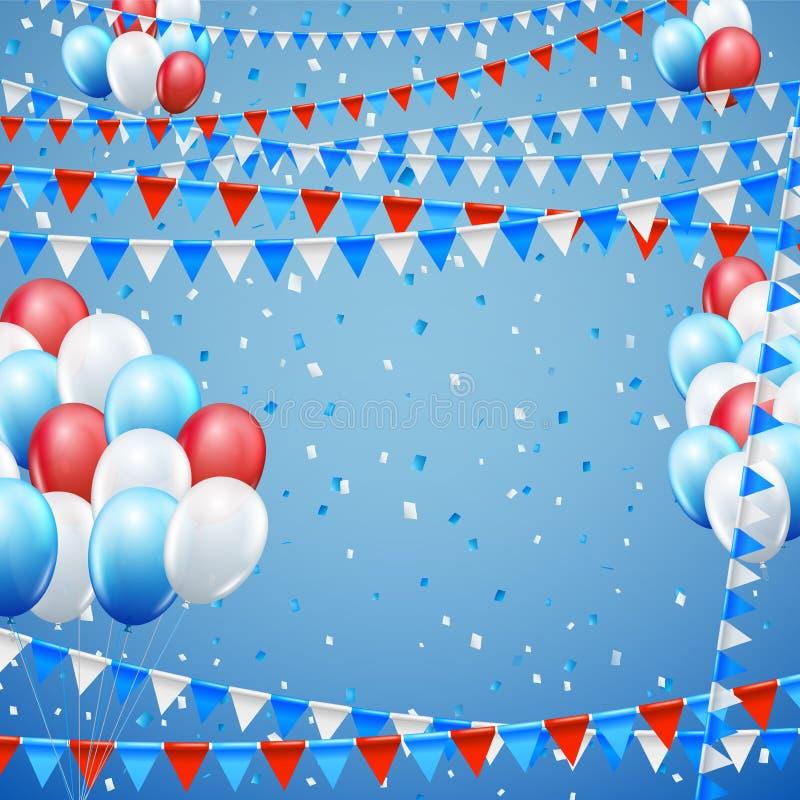 Festive flags background vector illustration