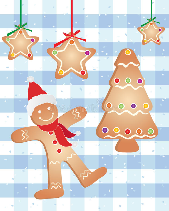 Download Festive gingerbread stock vector. Image of snow, christmas - 24544449