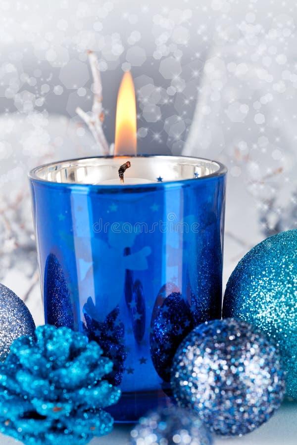 Download Festive Glitter Christmas Decoration Silver Blue Stock Image - Image: 30476841