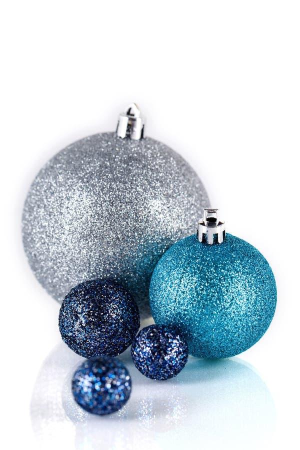 Download Festive Glitter Christmas Decoration Silver Blue Stock Photo - Image: 30476910