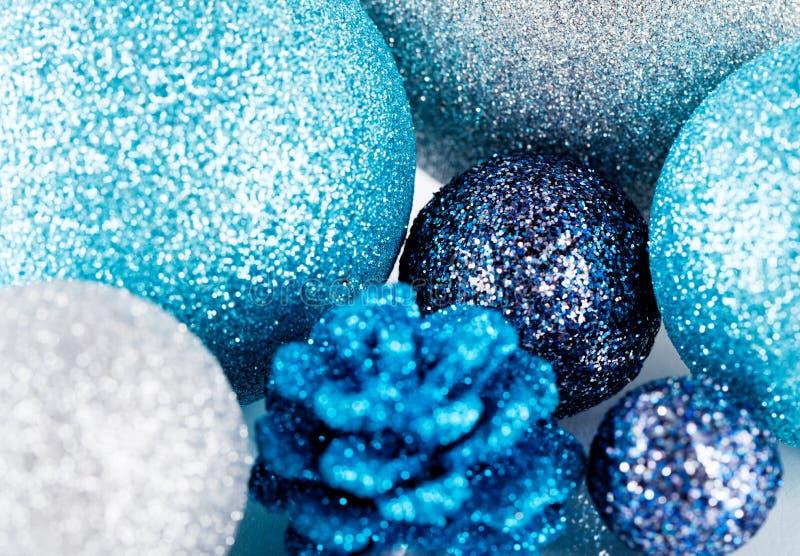 Download Festive Glitter Christmas Decoration Silver Blue Stock Photo - Image: 30477008