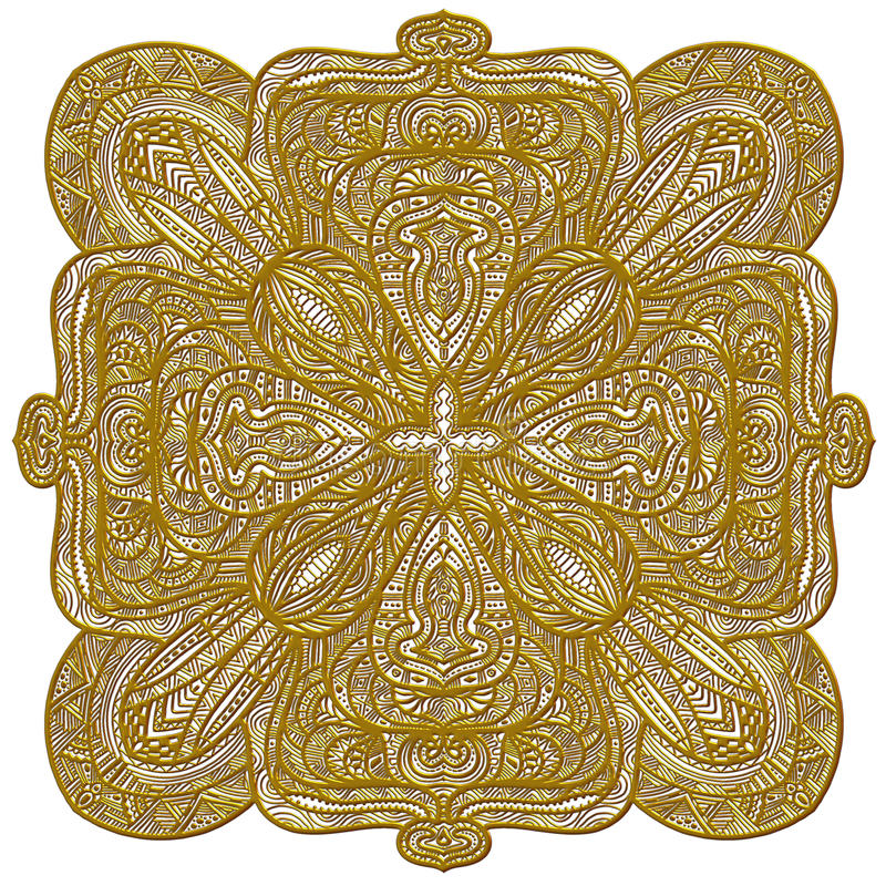 Download Festive Golden Ornament Royalty Free Stock Photo - Image: 20499465