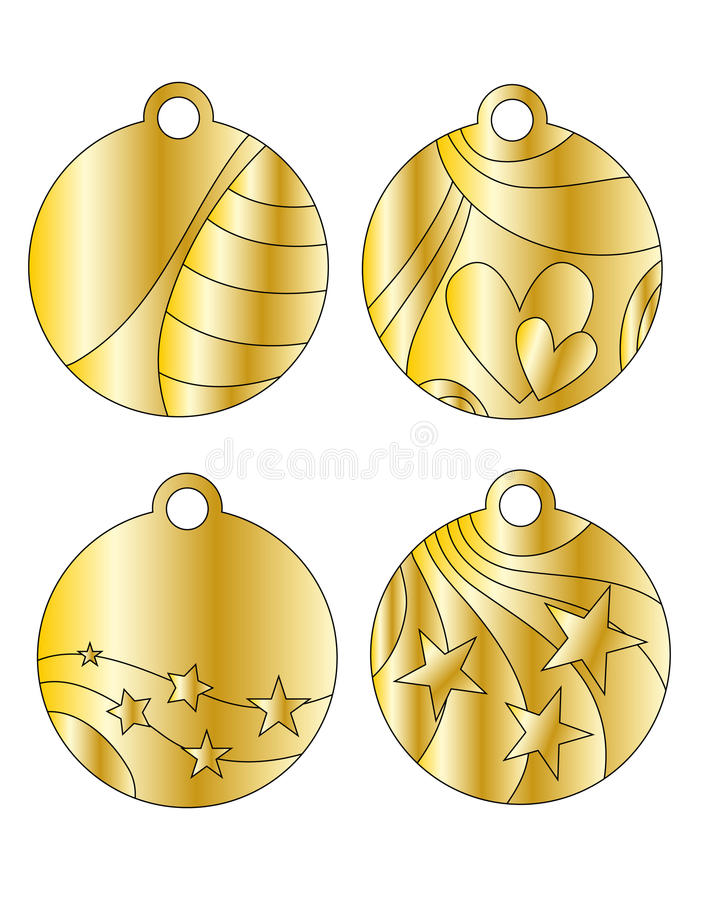 Download Festive Golden Tags Stock Images - Image: 11878914
