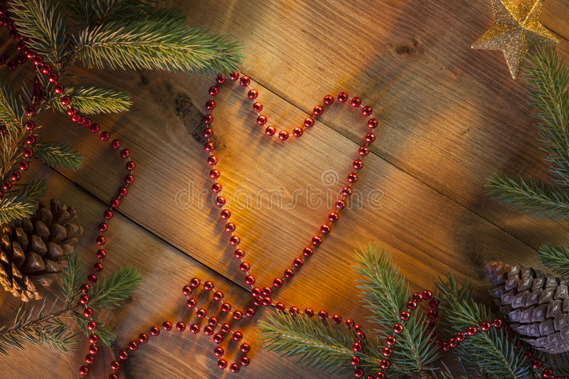Christmas - Festive Heart Shape - Background royalty free stock photography