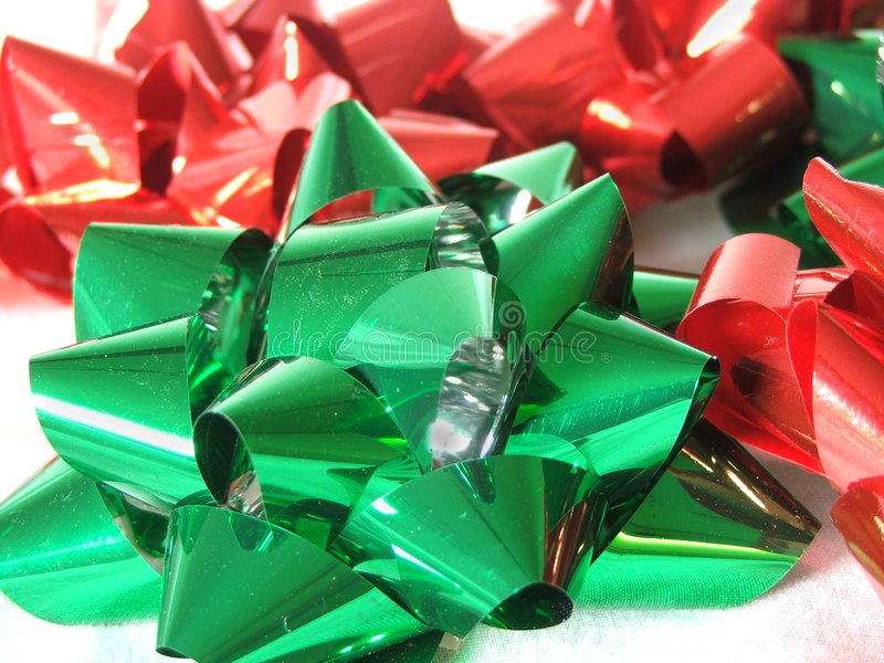 Download Festive Holiday Bows stock image. Image of vivid, holiday - 339477