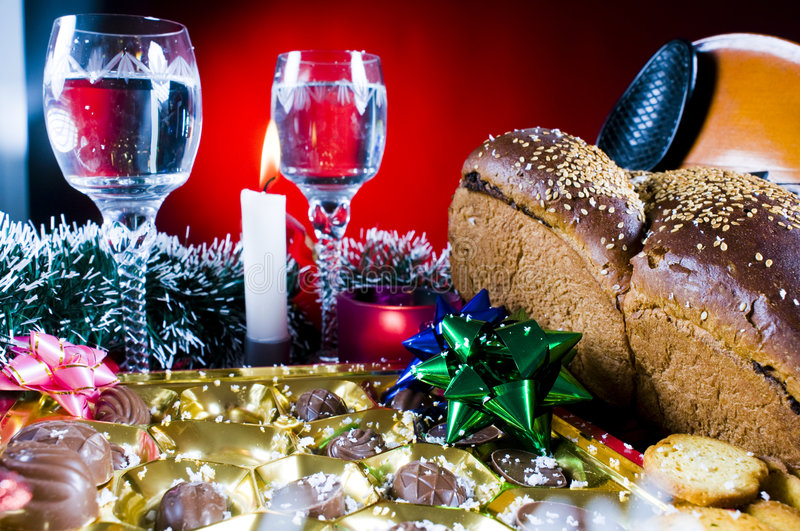 Download Festive Holiday Table Setting Stock Image - Image: 7383443