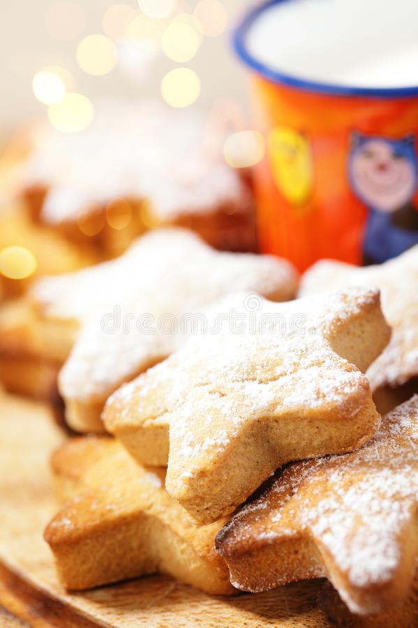Download Festive Homemade Gingerbread  Star Cookies Stock Photography - Image: 27041762