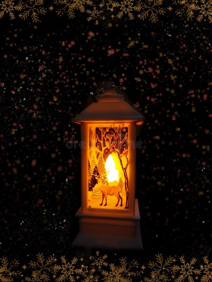 Festive lantern på den svarta bakgrunden royaltyfri foto
