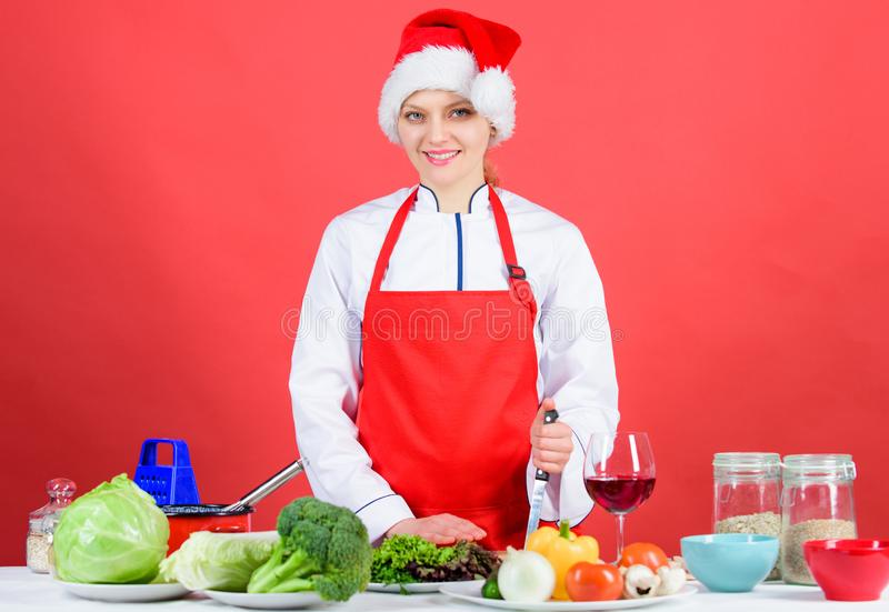 Festive menu concept. Best christmas recipes. Enjoy easy ideas for holiday parties and holiday dinners. Christmas menu stock photography