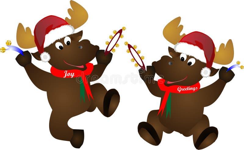 Festive Moose Stock Photos