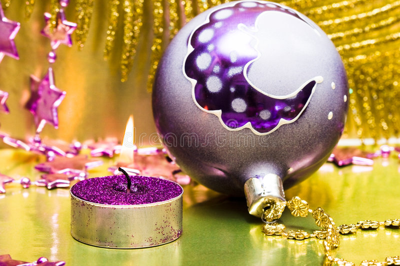 Festive new-year candle