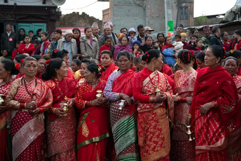 Festive Occasion in Kathmandu stock photo
