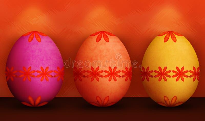 Download Festive Orange Purple Yellow Easter Eggs Stock Photo - Image of background, celebration: 22983164