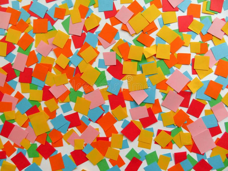 Square confetti background royalty free stock photo