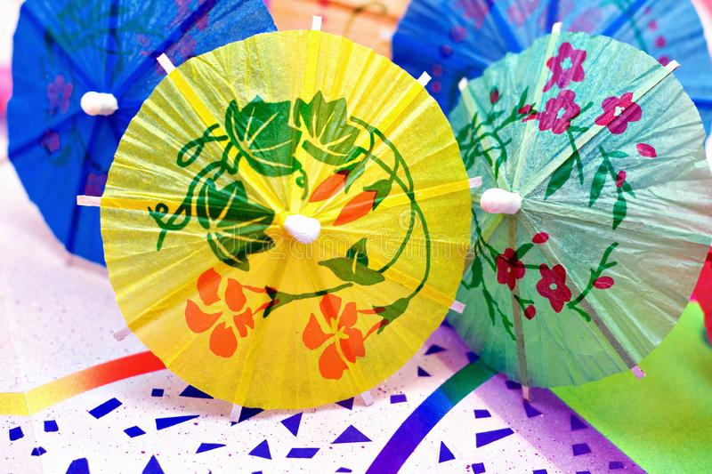 Festive Party Umbrellas royalty free stock image