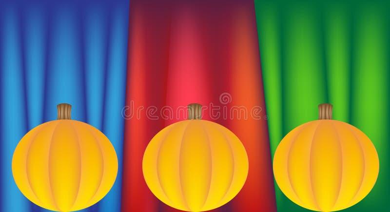 Download Festive Pumpkins stock vector. Image of festive, illustration - 9437272