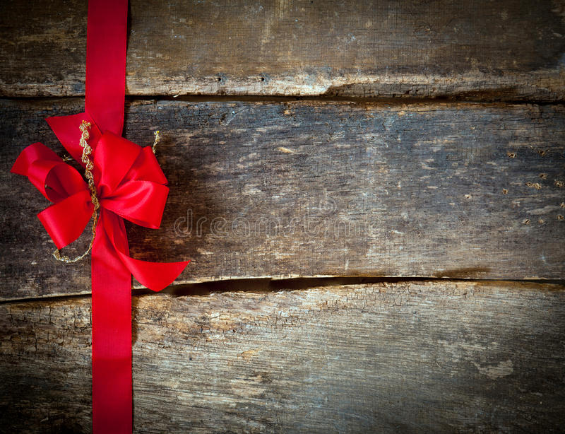 Festive red bow for a Christmas card stock photo