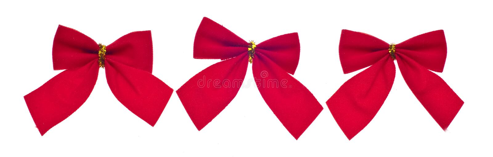 Download Festive Red Holiday Bows stock image. Image of celebration - 16459177