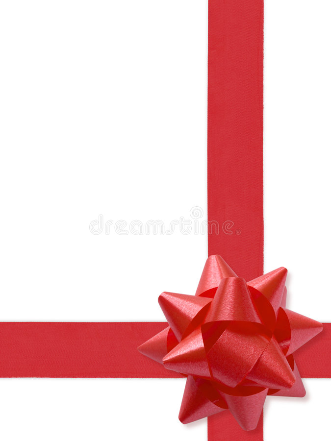 Festive Ribbon. Isolated On White (with clipping path for easy background removing if needed royalty free stock photo