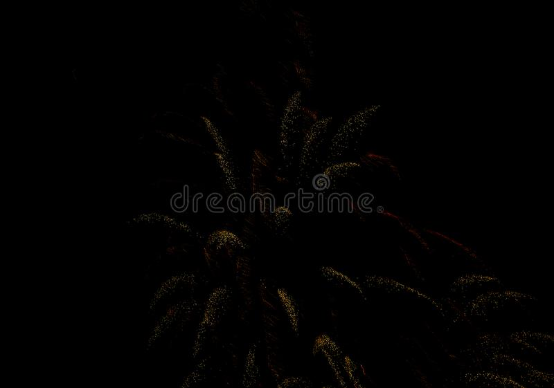 Festive salute in the night sky on victory day in the Russian Federation causing positive emotions in the population. 2019 royalty free stock photography