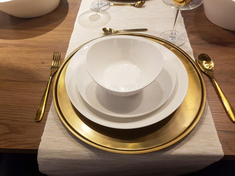 Festive season table settings royalty free stock images