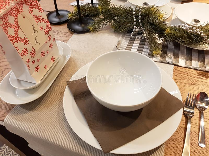 Festive season table settings stock images
