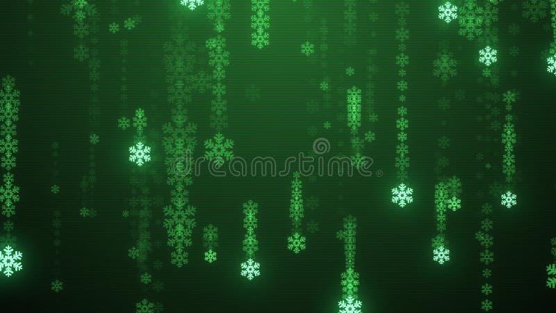 Festive snowflake snowfall tv screen Rain illustration background new quality shape universal glamour colorful joyful. Holiday music stock image stock illustration