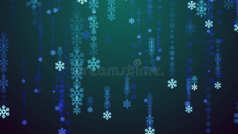 Festive snowflake snowfall tv screen Rain illustration background new quality shape universal glamour colorful joyful. Holiday music stock image royalty free illustration