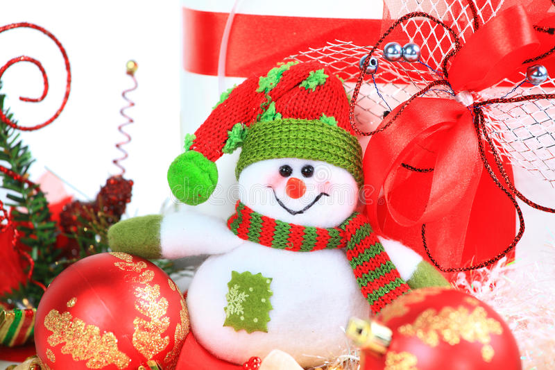 Download Festive snowman with stock image. Image of decorative - 22114791