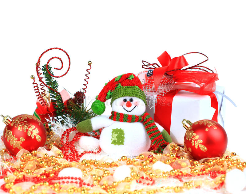 Download Festive snowman with stock illustration. Illustration of ball - 22506167