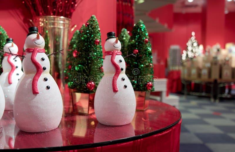 Festive Snowmen Stock Photography