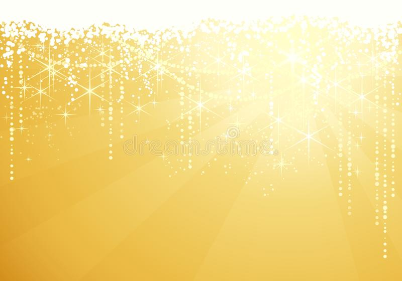 Festive sparkling Christmas background vector illustration