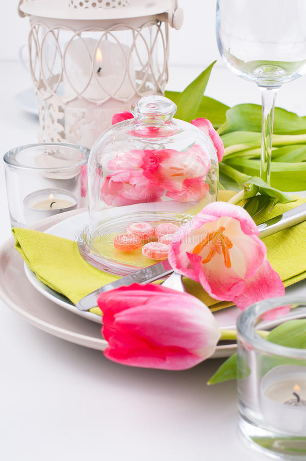 Download Festive Spring Table Setting Stock Image - Image: 28563307