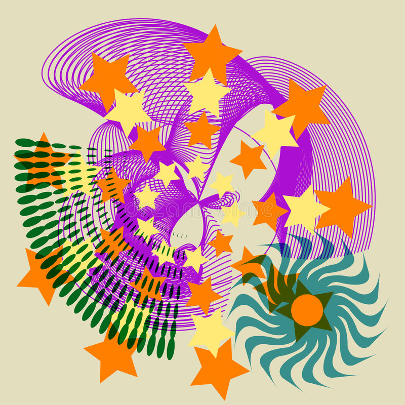 Download Festive Star Abstract Tile stock vector. Illustration of spiral - 2381671