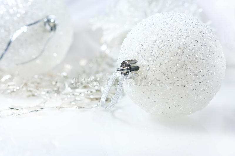 Festive Still Life - Christmas Decorations in Various Sizes and Textures. Soft focus royalty free stock images