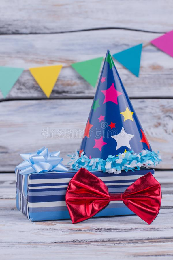 Festive stuff for Birthday party. stock photography