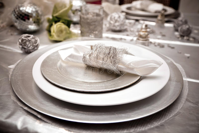 Download Festive table stock image. Image of share, silver, decorations - 17701337