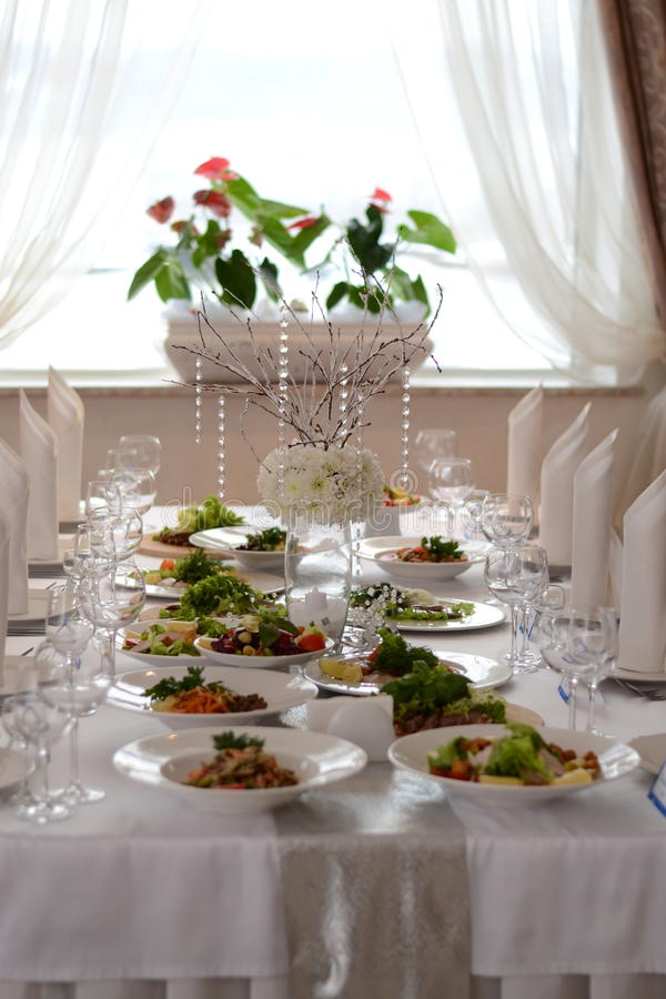 Festive table decoration royalty free stock photography