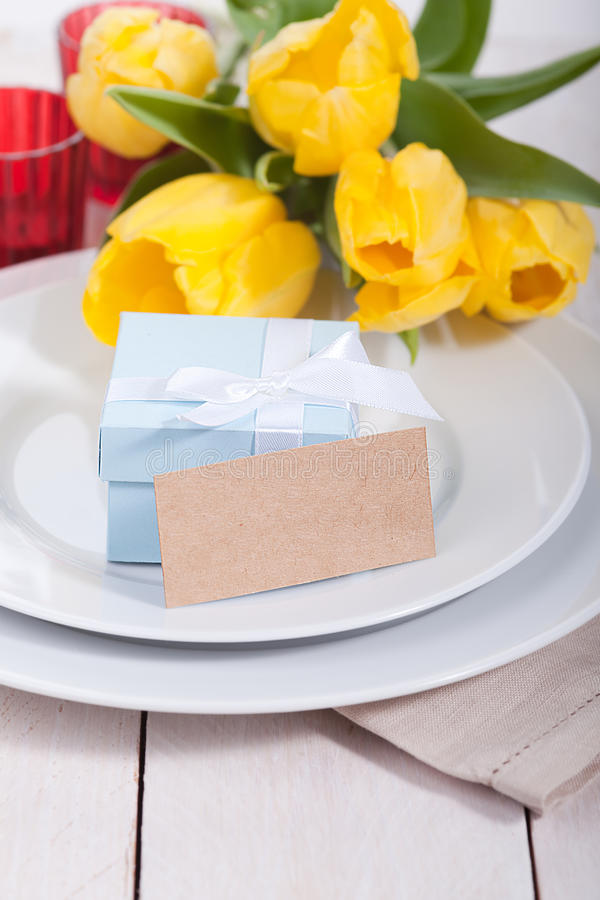 Download Festive table setting stock photo. Image of robbon, anniversary - 29375238
