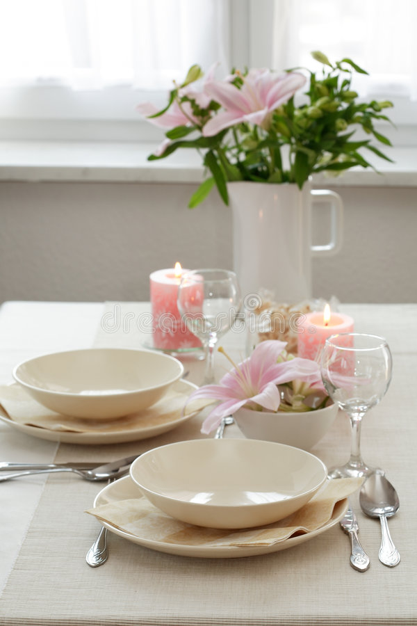 Download Festive table setting stock image. Image of detail, dish - 5126781