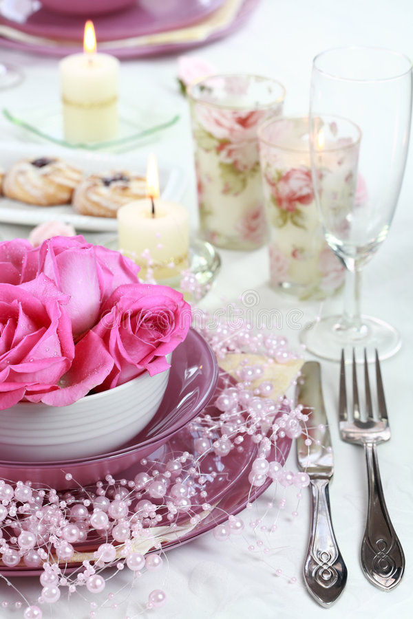 Download Festive table setting stock image. Image of floral, decorate - 5186175
